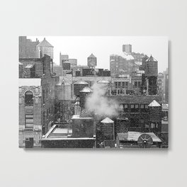 Water towers of the New York City. Metal Print