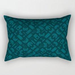 Control Your Game - Tradewinds Deep Teal Rectangular Pillow