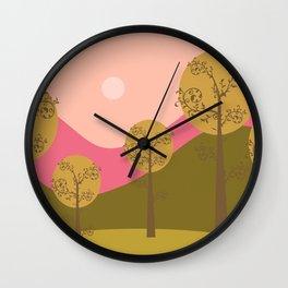 Kawai landscape autumn Wall Clock