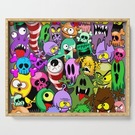 Monsters Doodles Characters Saga Serving Tray