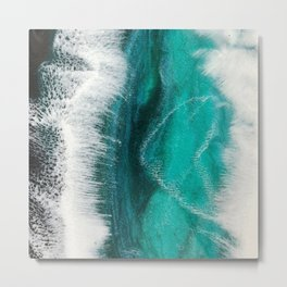 Resin ocean painting Metal Print
