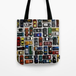 Toy cars pattern Tote Bag
