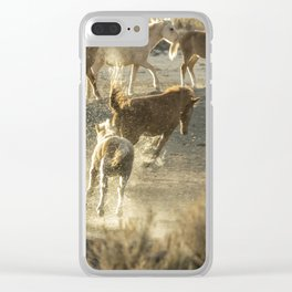 Hijinks at the Waterhole Clear iPhone Case
