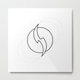 Flash geometrically outlined Metal Print