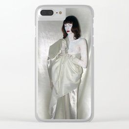 """say no to patriarchy / """"the religion"""" Clear iPhone Case"""