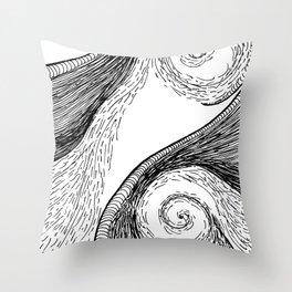 Oceanic Rage Throw Pillow