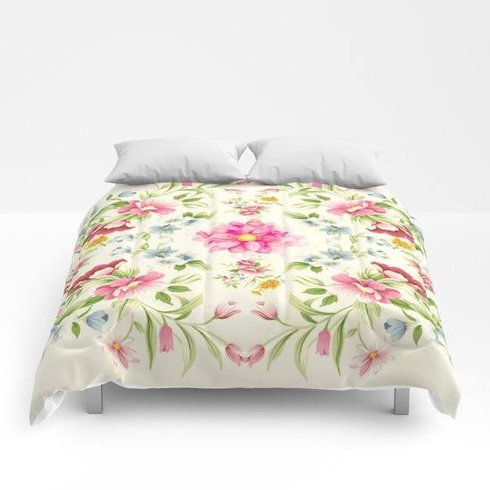 folk floral Comforters