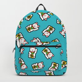 Lucky Cat Pattern Backpack