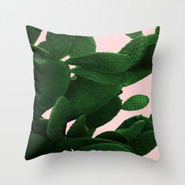 Cactus On Pink Throw Pillow