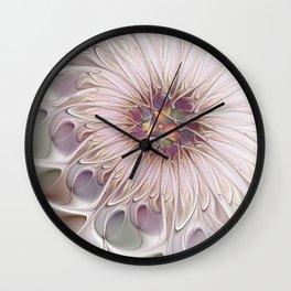 Flourish, Abstract Fractals Art Wall Clock