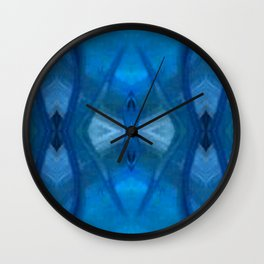 Pattern III Blue Wall Clock