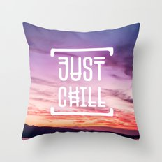 Go to the beach and... Just Chill! Throw Pillow