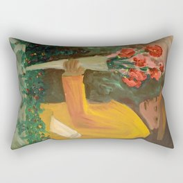 Man with flowers  Rectangular Pillow