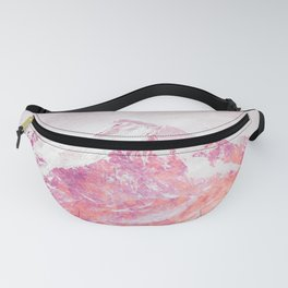 Wild mountainside bright red color Fanny Pack