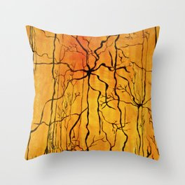 Neural Activity (An Ode to Cajal) Throw Pillow