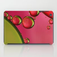 lime green iPad Cases featuring Lime Green & Strawberry by Sharon Johnstone
