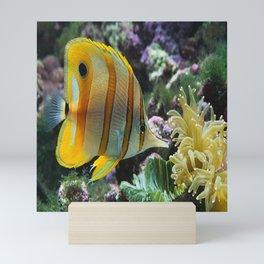 Yellow Longnose Butterfly Fish Mini Art Print