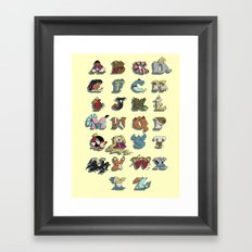 The Disney Alphabet Framed Art Print