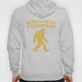 Bigfoot Hide And Seek Champion Funny Sasquatch T-Shirt Hoody