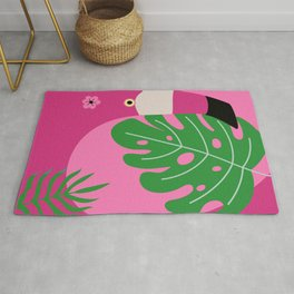 Whimsical Flamingo Rug