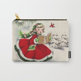 Vintage Christmas Girl Carry-All Pouch