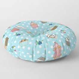 Donuts and muffins Floor Pillow