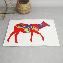 Graphic Elk 03 Swedish Dala Female Rug