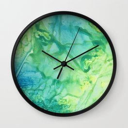 Abstract in Blue and Yellow Wall Clock