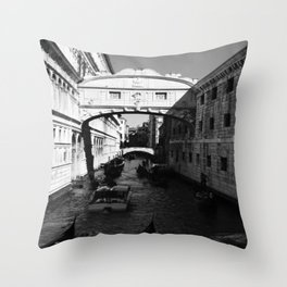Venice water road Throw Pillow