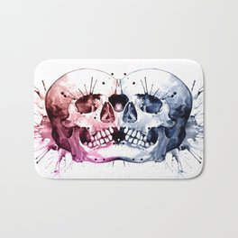 Conjoined Skull Bath Mat