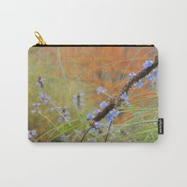 Autumn landscape with blue flowers Carry-All Pouch