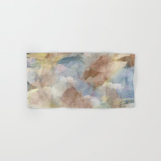 Earth Color Watercolor Abstract Hand & Bath Towel