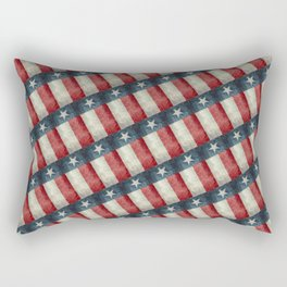 Vintage Texas flag pattern Rectangular Pillow