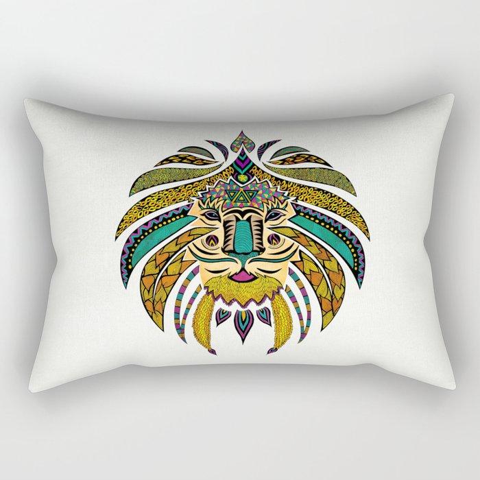 Emperor Tribal Lion Rectangular Pillow