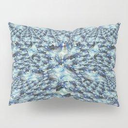 Blue Fractal Lace Pillow Sham