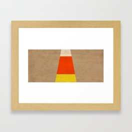 Halloween Candy Corn Framed Art Print