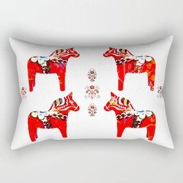 Swedish Dala Horses Rectangular Pillow