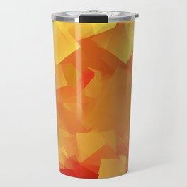 Cubism in orange Travel Mug