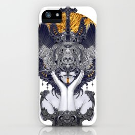 Black Feathers iPhone Case