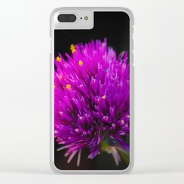 Purple Flower Spike by Reay of Light Photography Clear iPhone Case