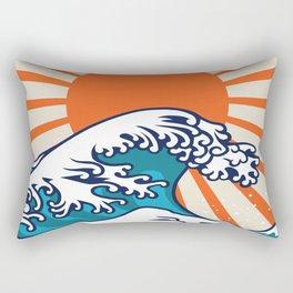 The Great Wave off Kanagawa, japanese wave poster, digital print, great wave of kanagawa, japan wave Rectangular Pillow