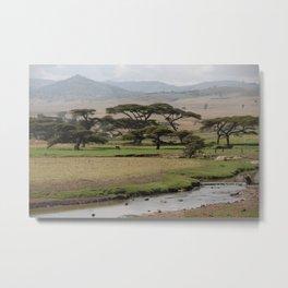 Omo Valley Brook Bala Mountains Landscape Ethiopia Africa Metal Print