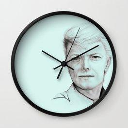 David Bowie (aqua) Wall Clock