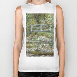 Bridge over a Pond of Water Lilies by Claude Monet Biker Tank