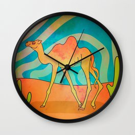 Trippy Camel Wall Clock