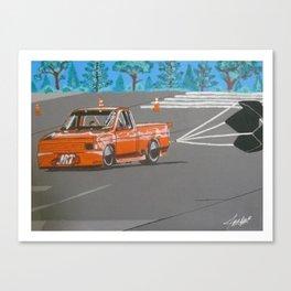 orange drag truck Canvas Print