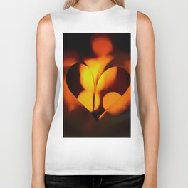 Beautiful Evening in Autumn - Heart Shape with Bokeh Light #decor #society6 #buyart Biker Tank