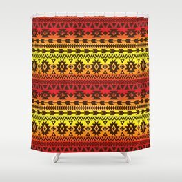 bright ethnic ornament Shower Curtain