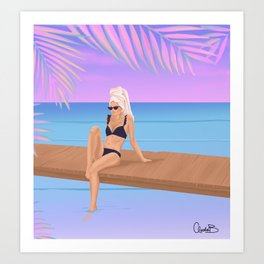 Vacation Mode Art Print