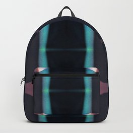 Pink and blue geometric pattern Backpack